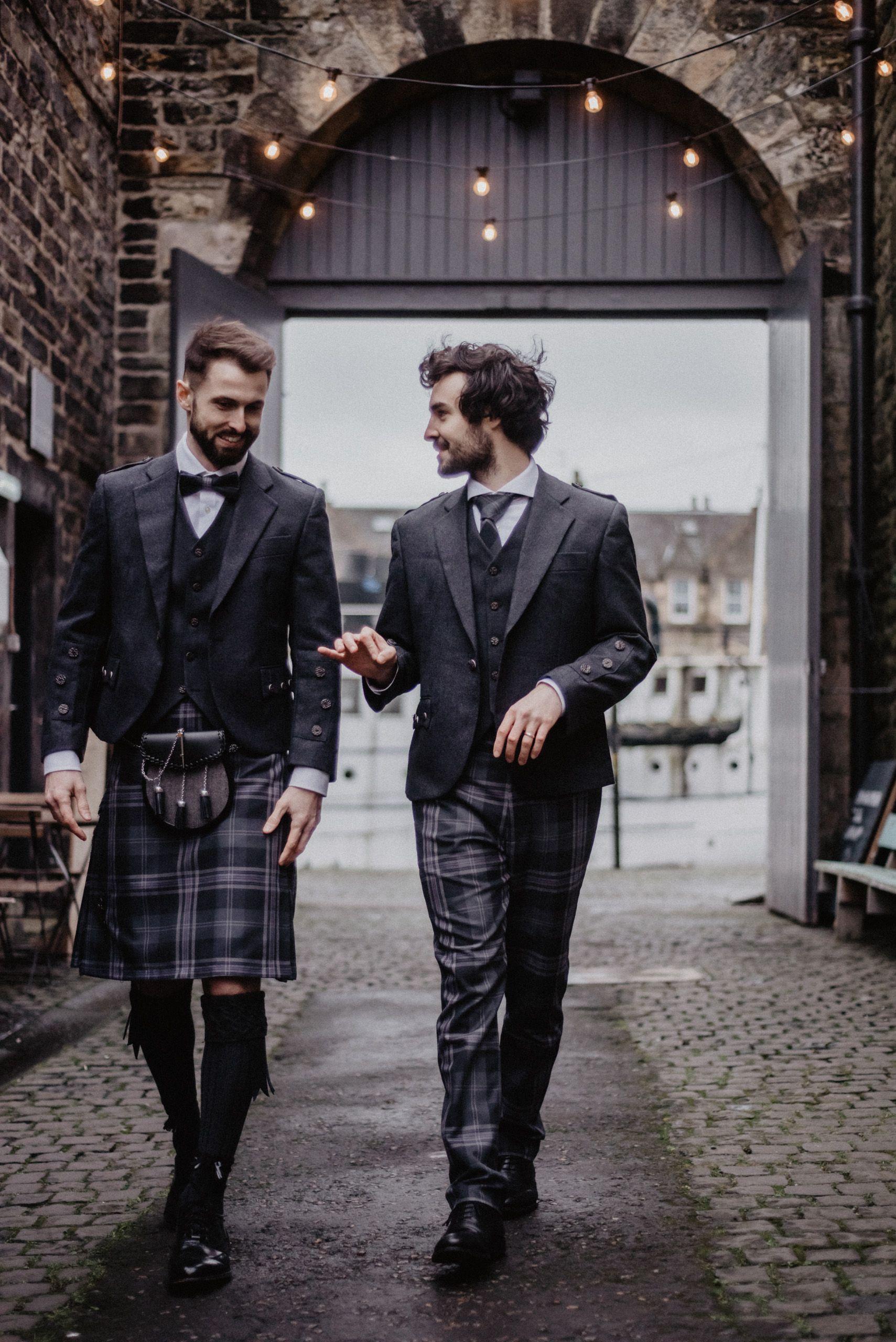 Persevere Flint Grey Tartan Trews Kilt Wedding Tartan Wedding Kilt Outfits [ 2560 x 1709 Pixel ]
