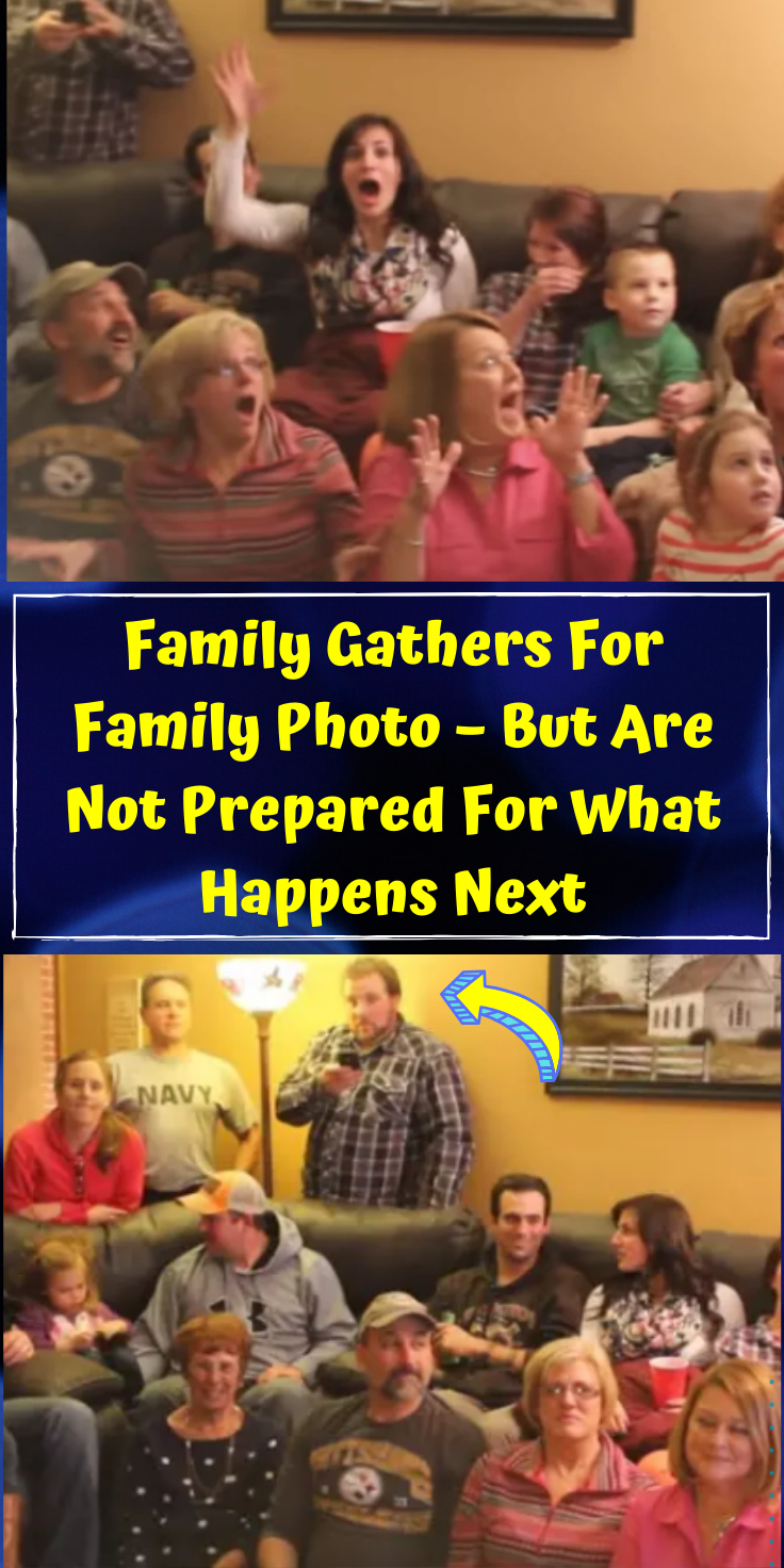 Family Gathers For Family Photo – But Are Not Prepared For What Happens Next
