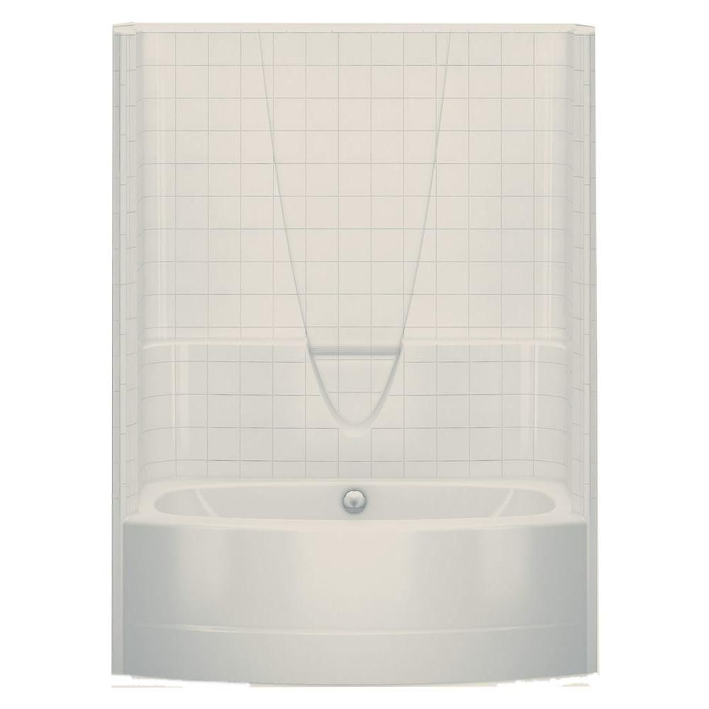 Aquatic Everyday Smooth Tile 60 In X 36 3 In X 77 3 In 1 Piece