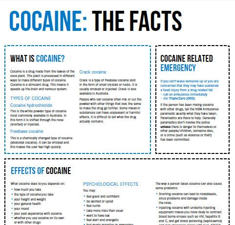 the description of the cocaine drug its sources and effects Brief description cocaine is a powerfully addictive stimulant drug communicate in the brain and the negative effects the drug can have information sources:.
