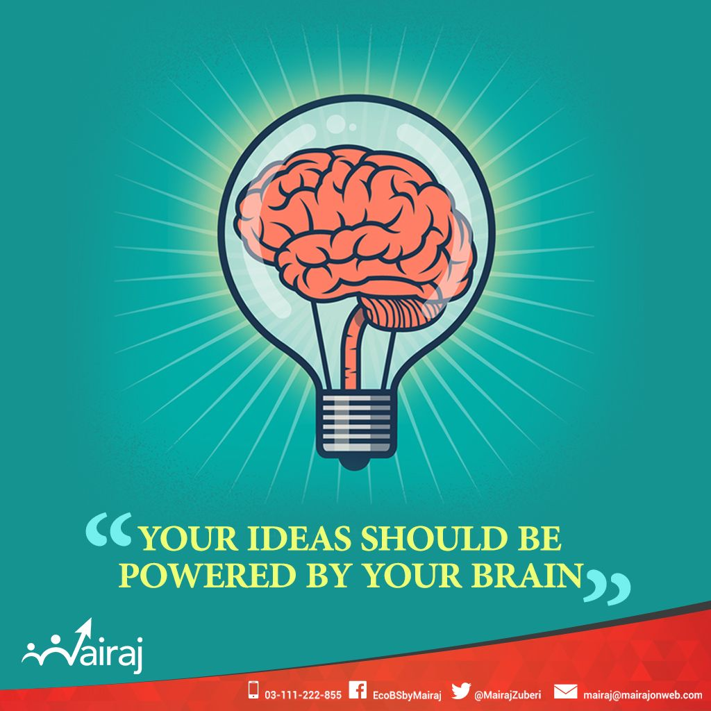 Ideas which are backed by a strong thought process and logic, always tend to do well. If the very basis of your plan, strategy, goal or objective is not clever, it won't suffice well. Brainy ideas always work! #Mairaj #Olevel #Alevel #CIE #Economics #Business #AskMAIRAJ