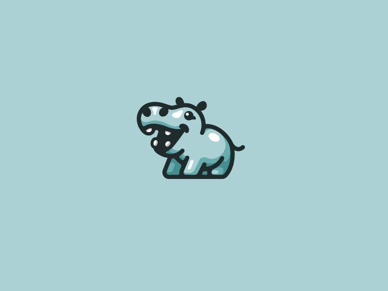 Happy Hippo by Daniel Bodea #Design Popular #Dribbble #shots