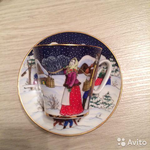 Чайные и кофейные пары лфз ручная роспись купить в Москве на Avito