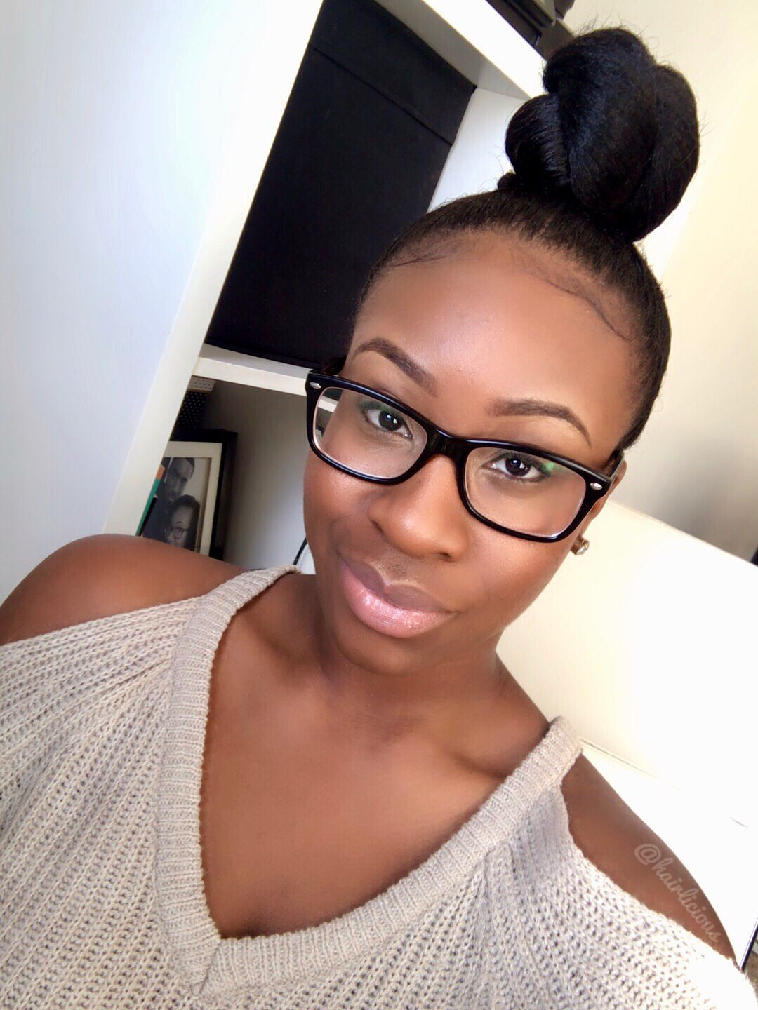 Top Knot Bun On Relaxed Hair Hairliciousinc Com Relaxed Hair Top Knot Bun Relaxed Hair Care
