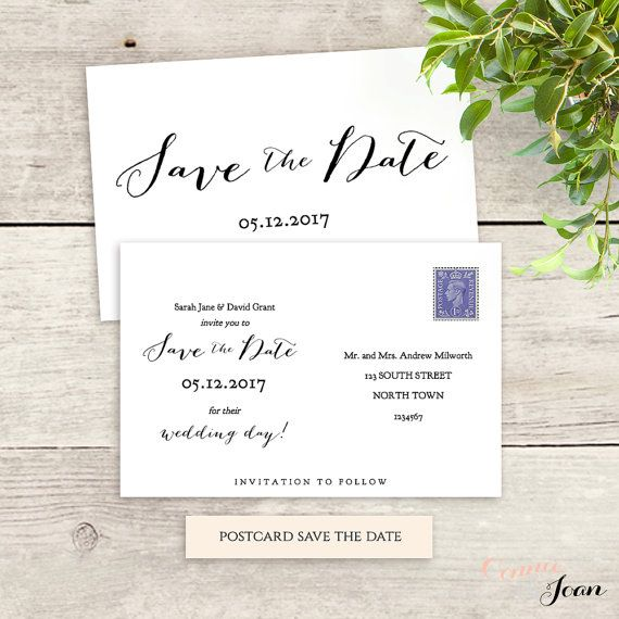 postcard save the date template 6x4 printable save the date 5x7