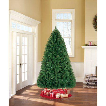 Holiday Time Unlit 7 5 Donner Fir Artificial Christmas Tree Walmart Com