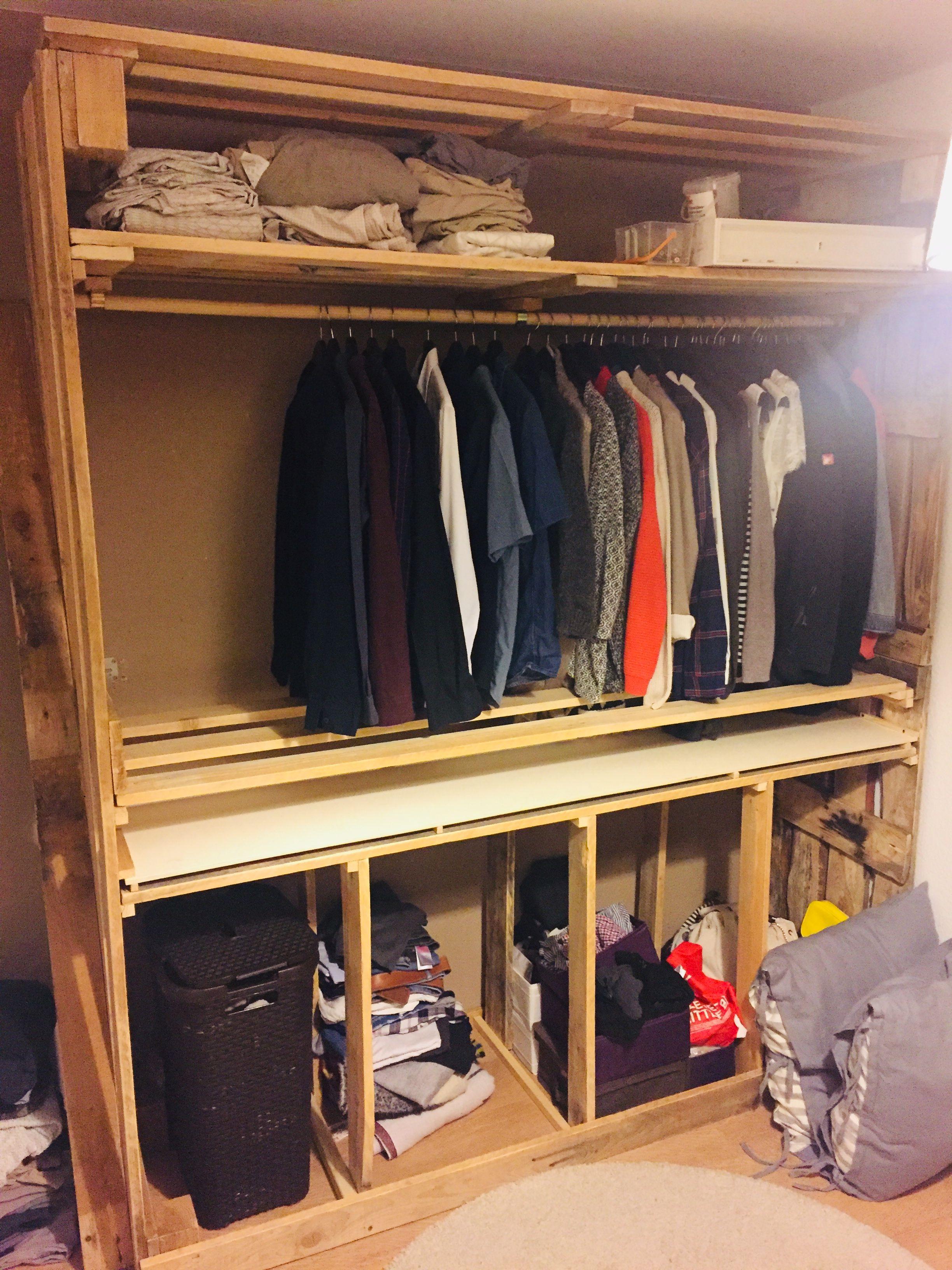 Kleiderschrank aus Paletten Part #1 | Paletten ...