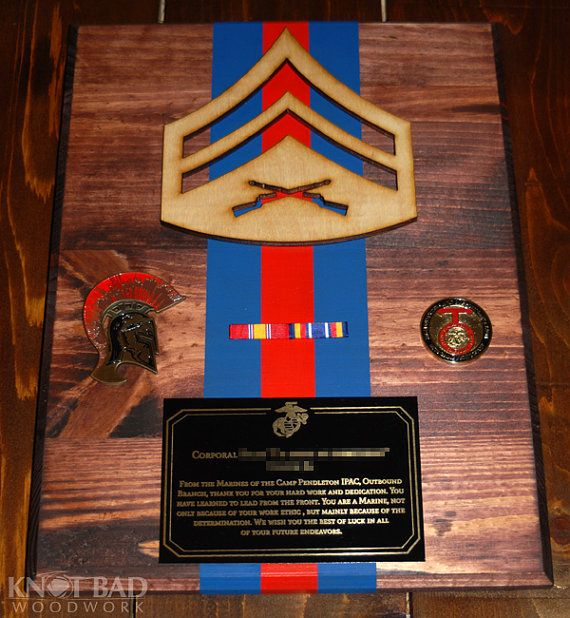 Going Away Quotes For Military Plaques: Custom Wooden NCO/Officer Blood Stripe Plaque