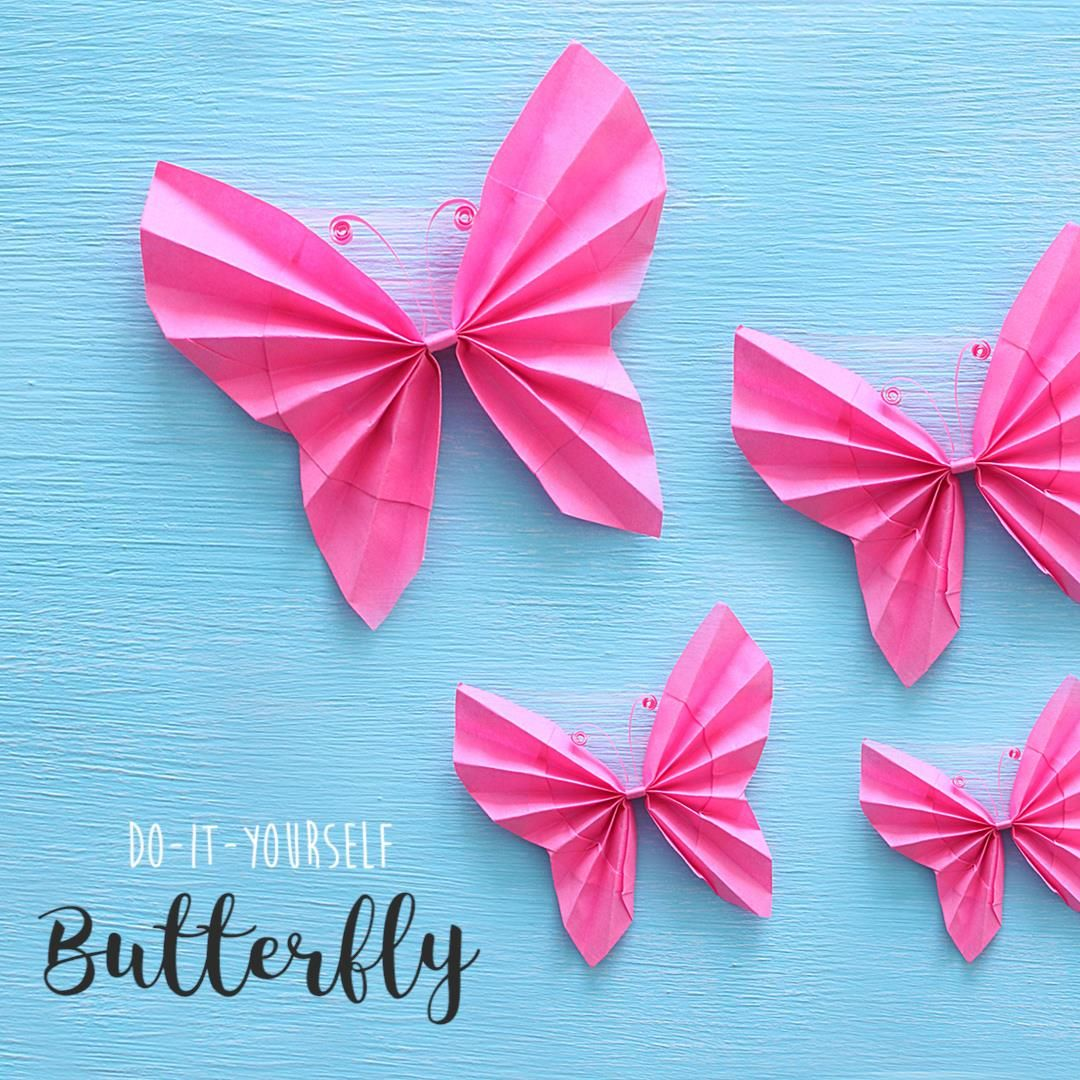 How To Make A Paper Butterfly In 2020 Diy Paper Butterfly Art All The Way Paper Butterfly