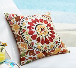 Barcelona Medallion Indoor/Outdoor Pillow I Want To Make This Pillow Using  Chalk Paint For The Porch Chairs!