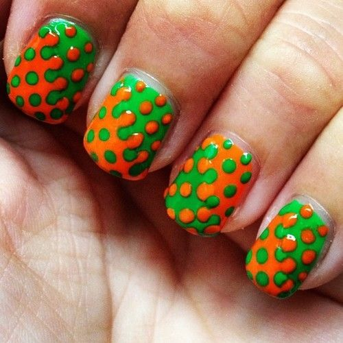Orange And Green Splatter Nails Nails Green Nail Orange Pretty Nails Nail Art Nail Ideas Nail Designs Splatter Nails Green Nail Art Green Nails
