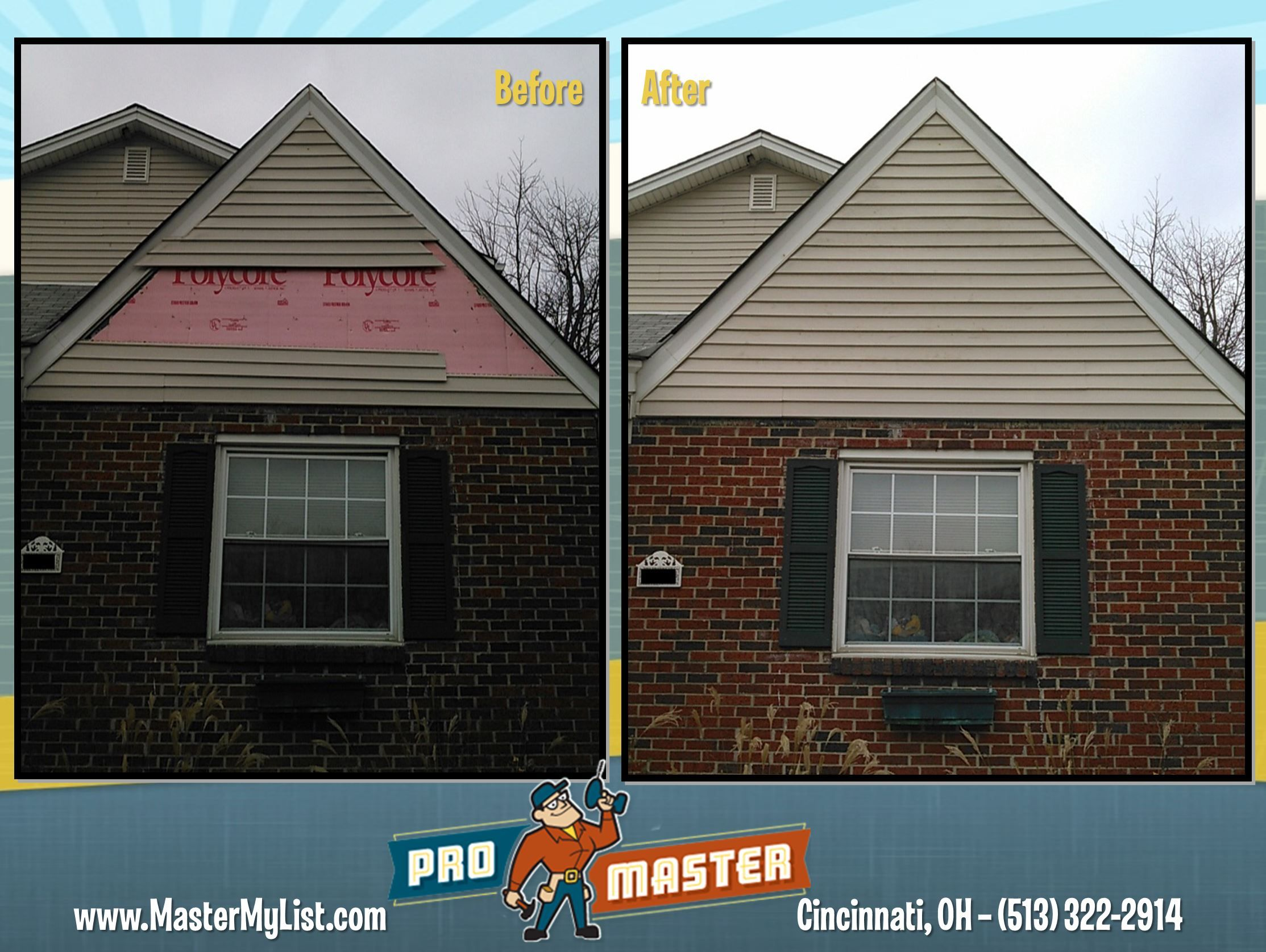 Pin By Promaster Home Repair Handyman Of Cincinnati On Cincy Homes Before And After Home Repair Home Outdoor Decor
