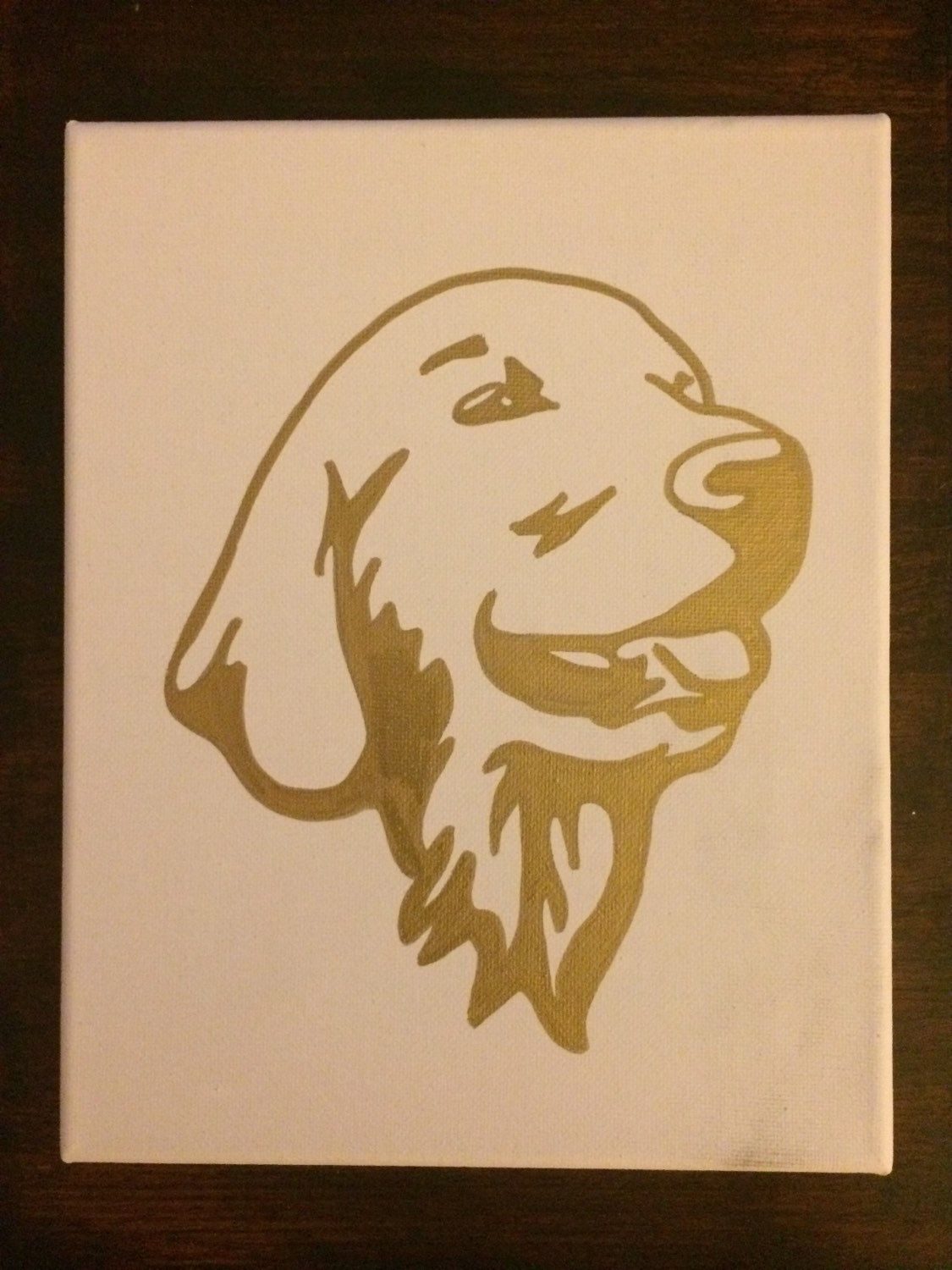 Golden Retriever, Dog, Canvas Painting, Home Decor, Wall Art by ...