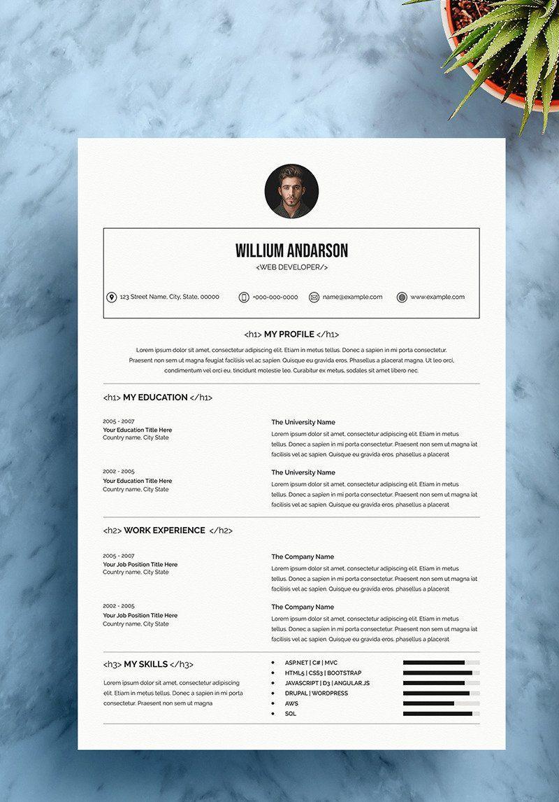 Pin on Web designer resume