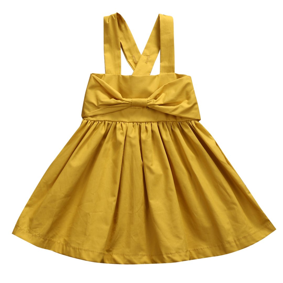 Click to buy ucuc summer infand baby gril dress kid girls yellow