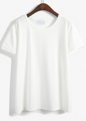 7bbb2e0404 Camiseta blanca basica camiseta relax fit-blanco 9.69