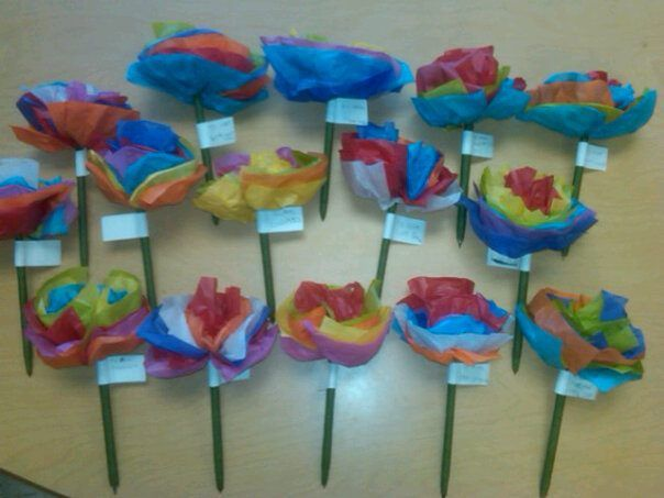 This years mothers day project for my 1st graders tissue paper this years mothers day project for my 1st graders tissue paper flower pens make the old school tissue paper flowers but instead of making a pipe mightylinksfo