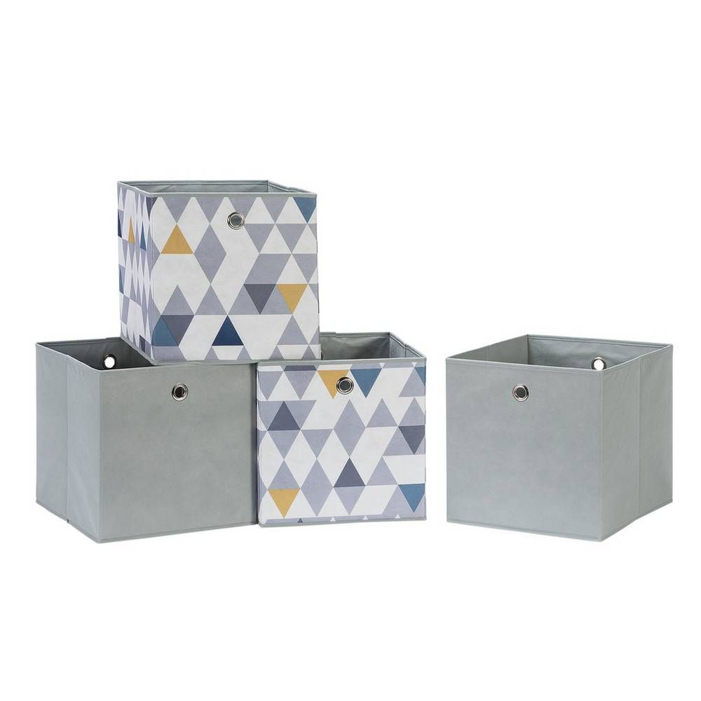 Home Storage Solutions Argos Home Set of 3 Squares Plus Boxes Grey