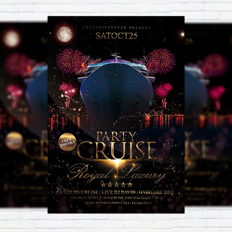 Cruise Party Vol2 Premium Flyer Template Facebook Cover Http