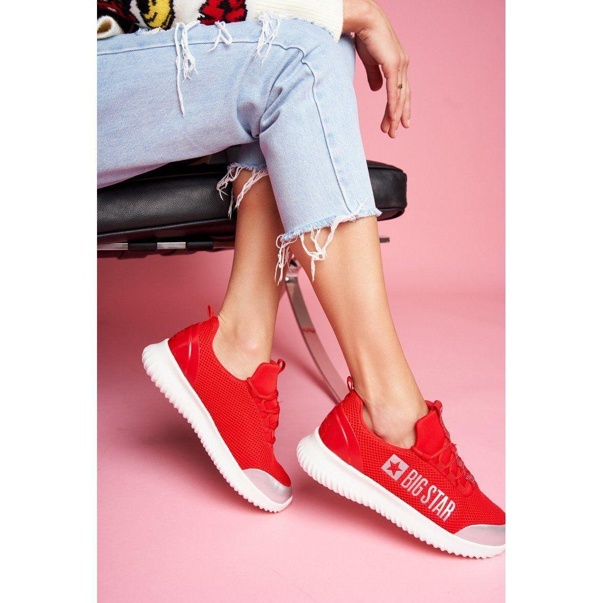 Damskie Sportowe Obuwie Big Star Czerwone Ff274a412 Adidas Sneakers Shoes Sneakers