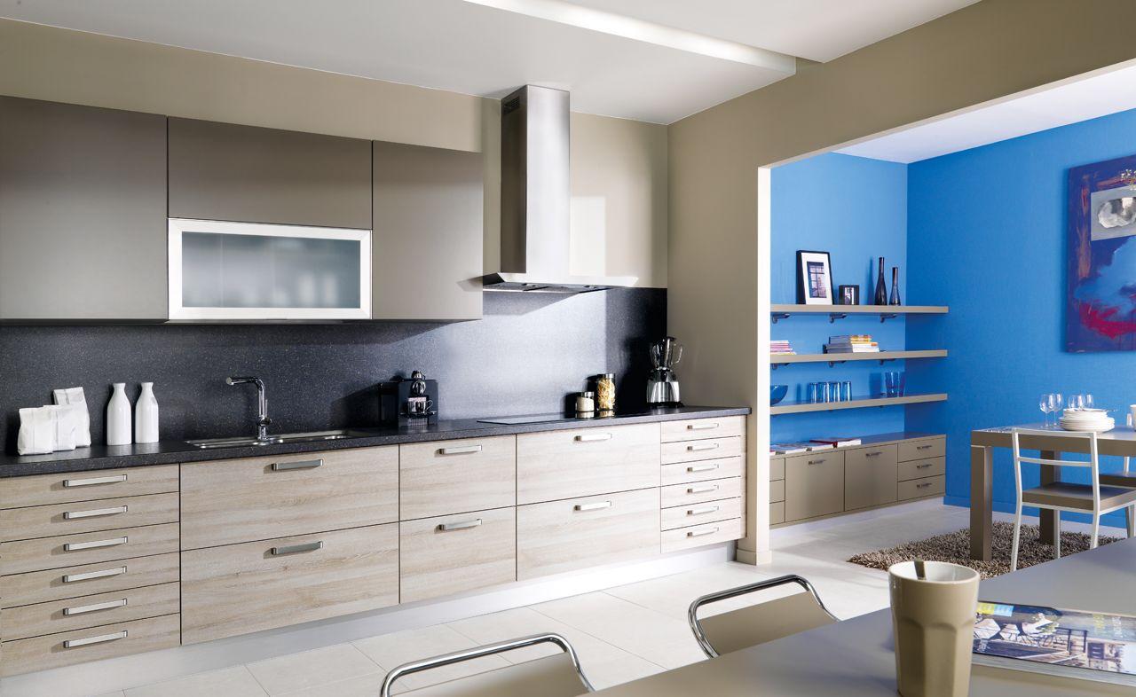 Cuisine Design - Melamine - Arcos 1. Une cuisine linéaire bien ...