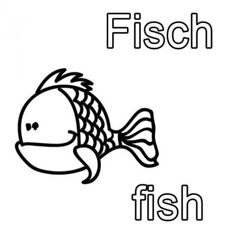 Kostenlose Malvorlage Englisch Lernen Ausmalbild Englisch Lernen Fisch Fish Zum Ausmalen Englisch Lernen Englisch Fur Kinder Ausmalbilder Fische