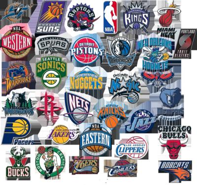NBA Logo Compilation Nba logo, Nba, Nba teams