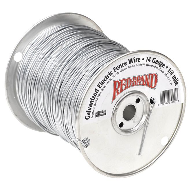 Red Brand Electric Fence Wire 14 Ga Galvanized 1320 85610 Rona Wire Fence Electric Fence Fence