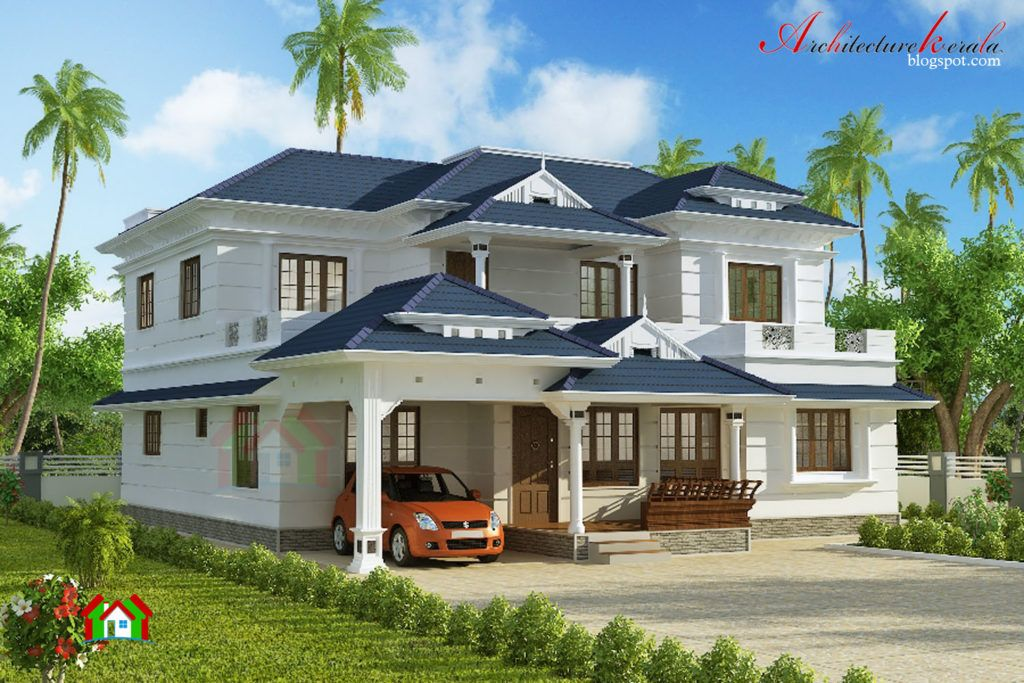 Remarkable Exterior Kerala House Colors : Traditional