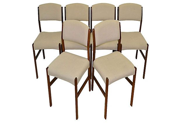 One Kings Lane - The Nostalgic Table - Danish Rosewood Dining Chairs, S/6