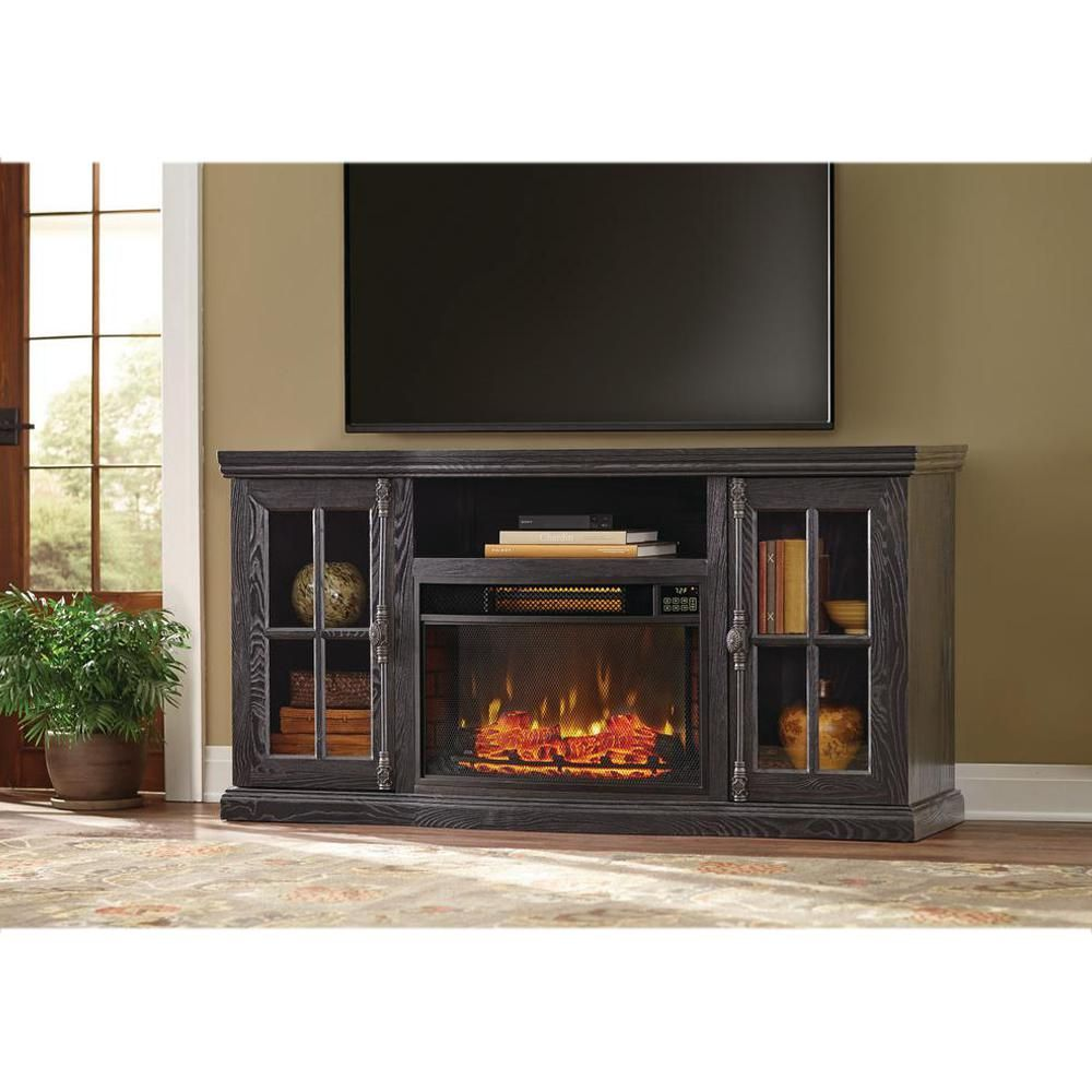 Manor Place 67 In Tv Stand W Bluetooth Electric Fireplace In