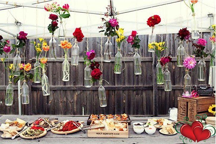 Simple Yet Smart Backyard Wedding Reception Ideas ... 21st Party Decorations21st  ...