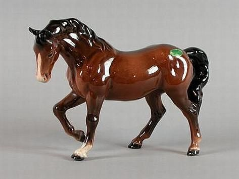 Ancient Porcelain Horse Figure