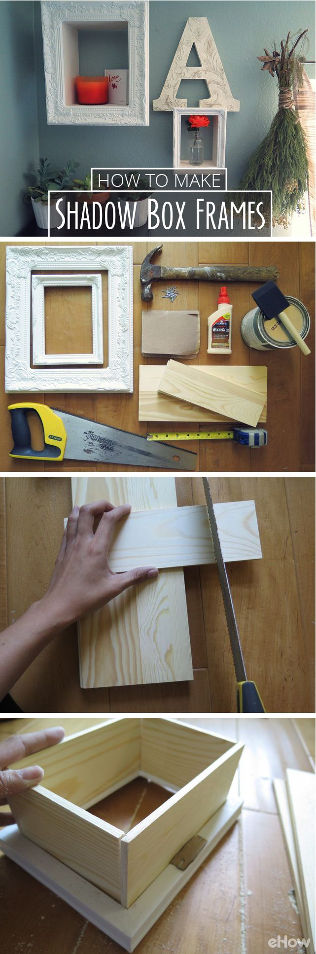 How to Make Shadow Box Frames | For a Home Sweet Home | Pinterest ...
