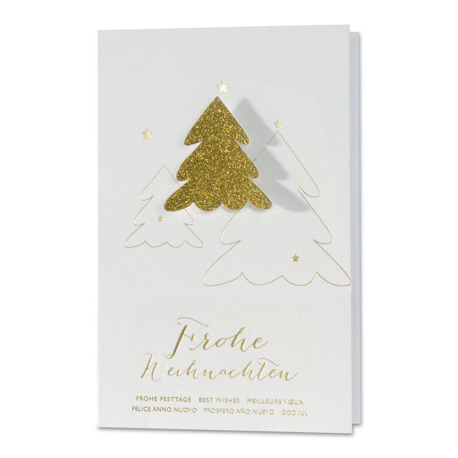 schlichte saubere weihnachtsw nsche mit 3d tannenbaum in goldenem glitzer die 50 sch nsten