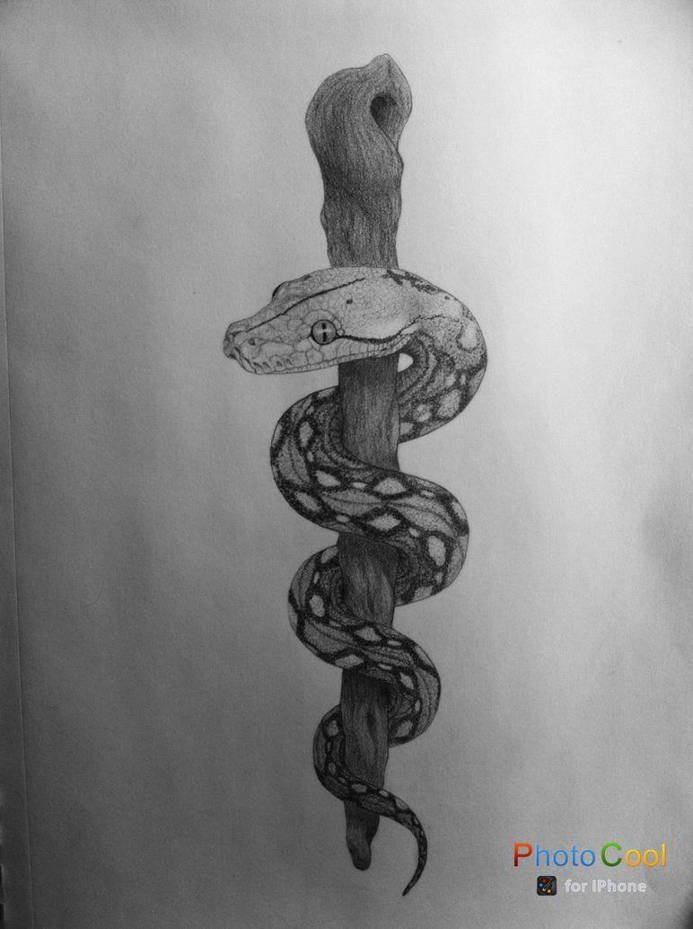 Lifelike 3d Wallpaper Rod Of Asclepius By Laurastephenson1979 Tattoo Tattoos