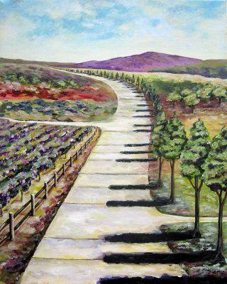 Camino Teclado. Pintura