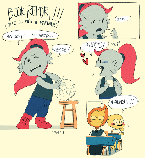 Kid Undyne and Alphys from Undertale