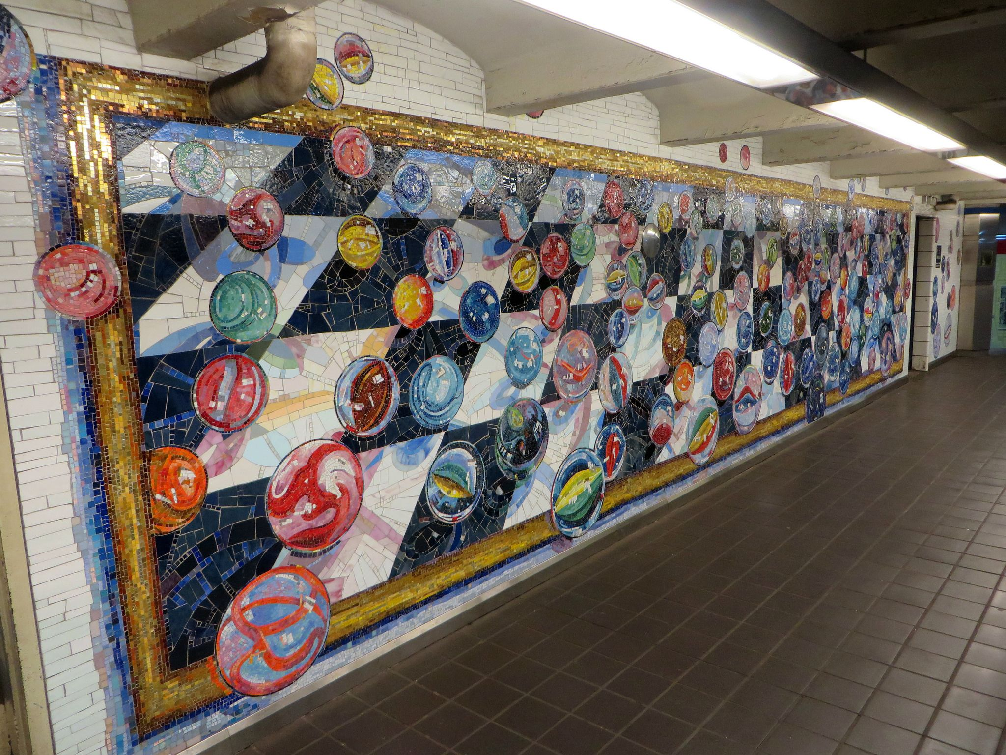 West 42nd Street and 8th avenue subway art