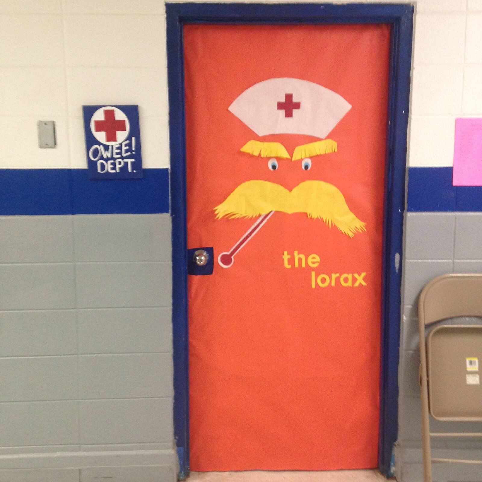 Dr Seuss School Nurse Door Decoration School Nurse Office