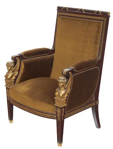 An empire style gilt bronze mounted mahogany berg re late - Muebles de hoy ...
