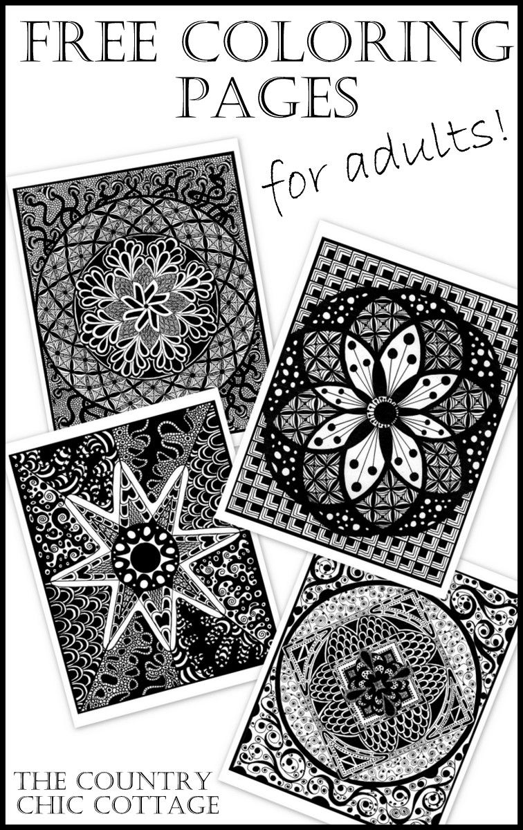 Stress reducing adult coloring pages free - Free Coloring Pages For Adults A Great Way To Relieve Stress
