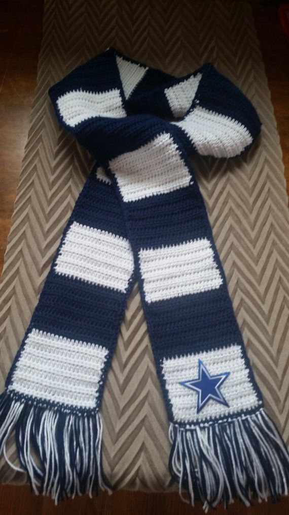 ef5e760b4e8d4 Dallas Cowboys inspired scarf by CosettePriceShop on Etsy
