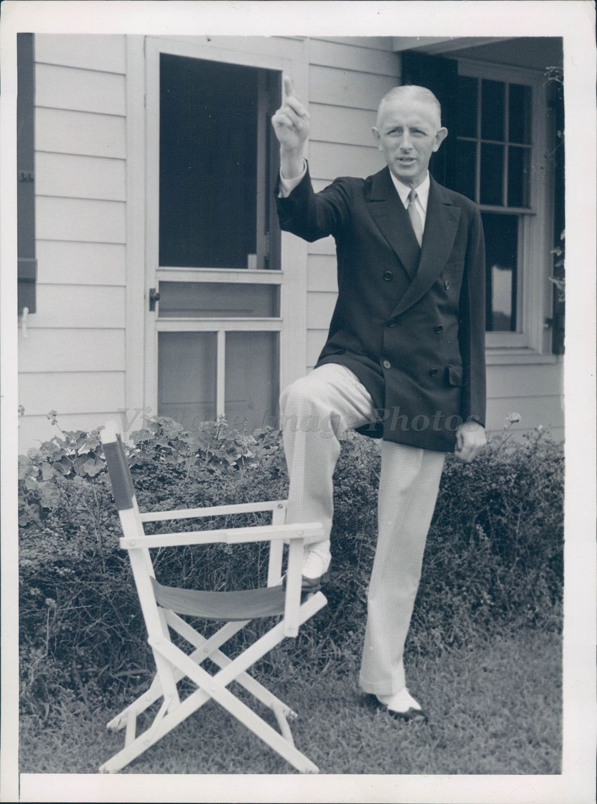 1938 Photo William Ely NJ WPA Administrator Summer Home Business Man ...