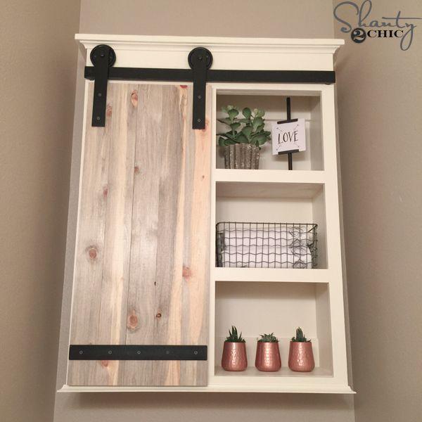 Photo of DIY Sliding Barn Door Bathroom Cabinet