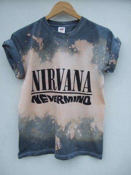 shirt tie dye nirvana grunge t-shirt nevermind acid wash  b686d10567