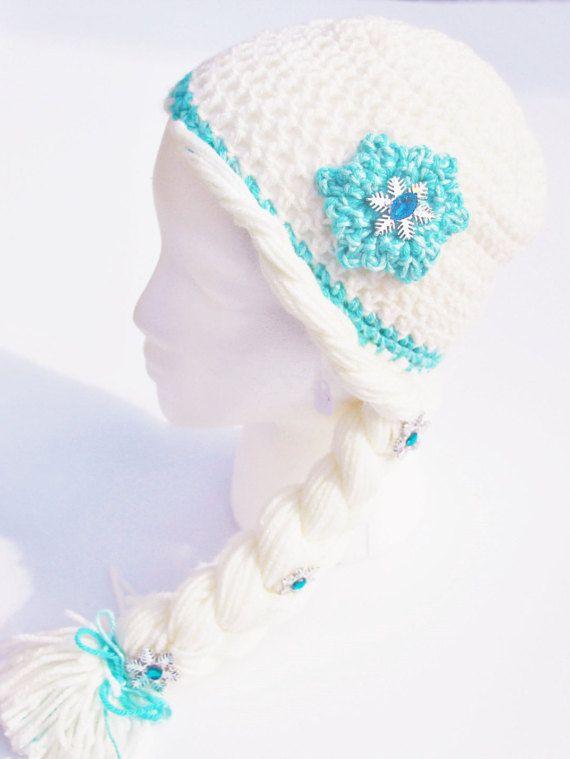 Elsa Hat, Elsa Wig, Elsa Frozen Hat, Disney Frozen Hat, Elsa Crochet ...