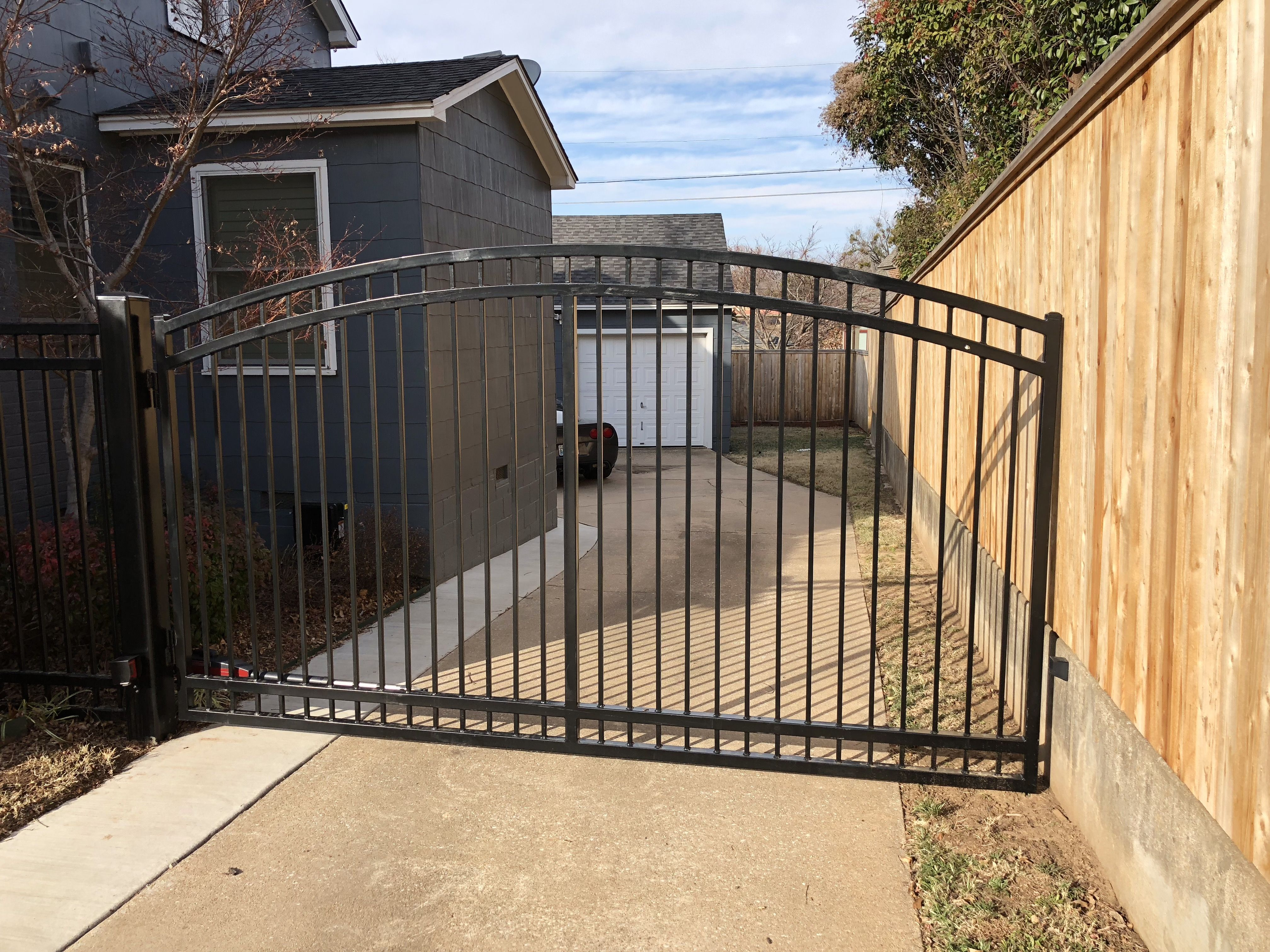 Midtown Tulsa Arched Driveway Gate House Front Gate Gate Gate Operators