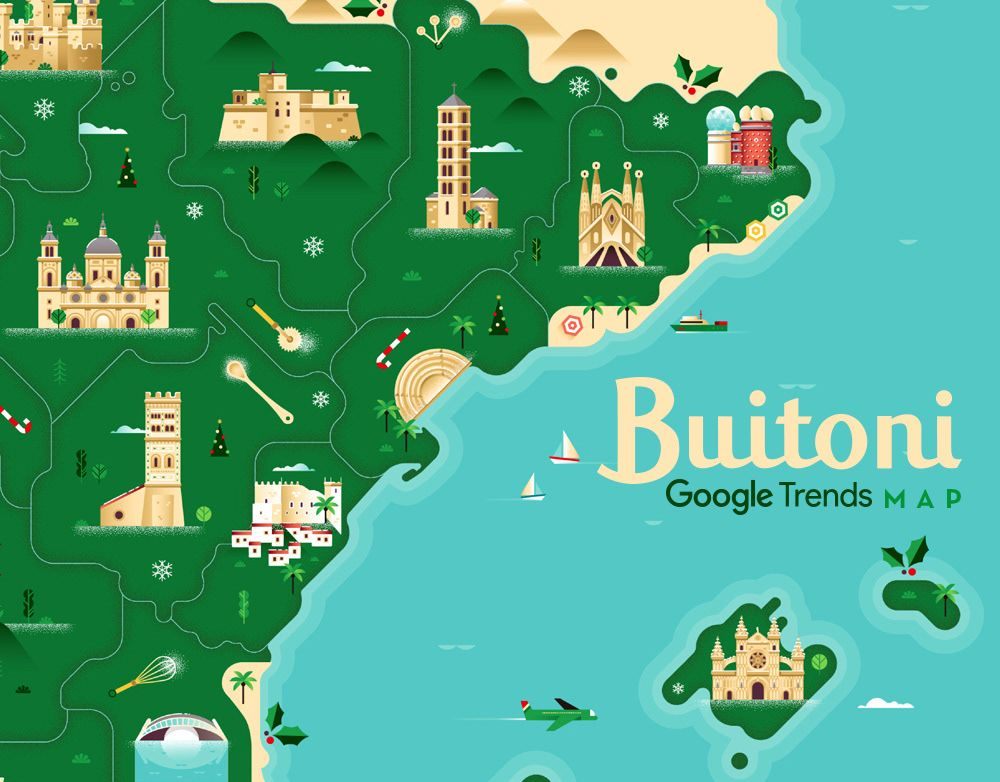 Check Out This Behance Project Buitoni Google Trends Map Https Www Behance Net Gallery 59890551 Buitoni Google Trends Map Trends Map Google Trends Map