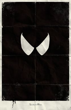 Minimal Marvel poster by Marko Manev